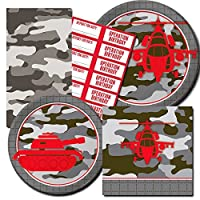 Camo Party Supplies Value Set -- Camouflage Party Plates, Napkins and More!