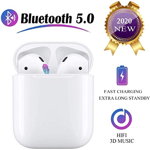 Auricolare Bluetoot,Cuffie Bluetooth touch,24h Playtime 3D stereo HD Cuffie Wireless, Binaurale Call auto Pairing,Con Scatola di Ricarica,Per iPhone/Samsung/Airpods/Huawei/Android
