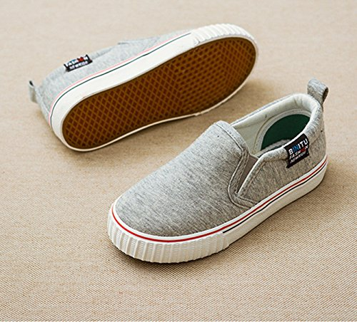Basses enfant simple respirant loisir courant multicolore marche léger inusable casual Gris