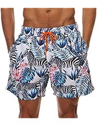MODCHOK Homme Shorts de Bain Plage Natation Bermuda Pant Court de Sport  Beach Séchage Rapide 2756351913c