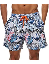MODCHOK Uomo Pantaloncini e Calzoncini da Bagno Pantaloncini da Spiaggia  Mare Piscina a4cb3675810e