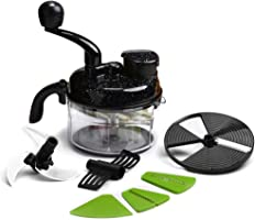 Wonderchef Turbo Plastic Food Processor, Black