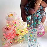 #8: Fancyku 1 Pcs Soft Rubber Pearl Slime DIY Magic Clay Slime Non-toxic Crystal Mud Putty Toy Transparent Plasticine Toys for Kids Students Birthday Party