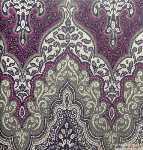 Vliestapete Orient Barock 404746 Lila Glamour Glitzer Von Rasch
