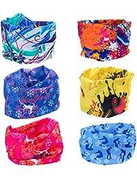 ZEWOO 6 Pcs multifonction Bandanas Sans Coutures Tour de Cou Echarpe  Foulard Tube Masque Bandeau Bracelet, Casque, Cagoule, Bandeau,… c24d603f88e
