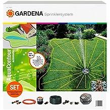 """Gardena 2708-20 Sprinklersystem Komplett-Set mit Vielflächen Versenkregner AquaContour automatic, Inhalt: 1 x 1505, 2 m Classic-Schlauch 3/4"""", 1 x 2795, 20 m Verl.rohr 25mm, 1 x 2761, 1 x 2781, 1 x 1537"""