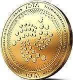 innoGadgets Physische IOTA Medaille mit 24-Karat Echt-Gold überzogen. Wahres Sammlerstück mit Münzkapsel - Kollektion 2018. EIN Muss für jeden Krypto-Fan