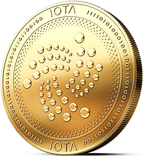Physische IOTA Münze mit 24-Karat Echt-Gold überzogen. Wahres Sammlerstück mit Münzkapsel - Kollektion 2018 + GRATIS E-Book Cryptocurrency - das Zahlungsmittel der Zukunft