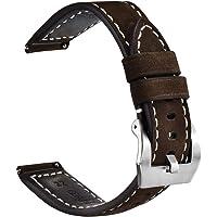 Cinturino per Orologio a Sgancio Rapido con Fibbia in Vera Pelle e Acciaio inossidabile,Cinturini di Ricambio 20 mm 22…