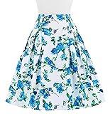 rockabilly rocke 50s vintage blumendruck röcke knielang minirock skirts XL CL8925-1