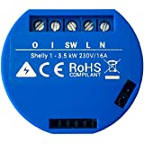 Shelly 1 Relay Switch Trådlös WiFi Hemautomatisering iOS Android-applikation