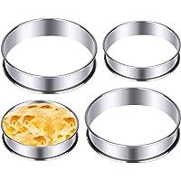 DEXIDUO 4 morceaux de gâteaux plats, des anneaux de muffin anglais parfaits, des anneaux de gâteau roulés doubles…