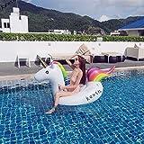 Flotador para Piscina de Unicornio Gigante, Balsa Inflable Juguete Inflable Con Las Válvulas Rápidas Que Cuelgan, Unicornio Flotador Hinchable Para (200x100x90cm)