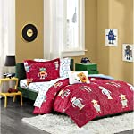 The Rockin' Robots Complete Bed and Sheet Set will brighten up your room in seconds! The red top of bed has a textured look with lighter red bolts in the ground. Multicolor techy robots coordinate back to the microfiber sheet set for a fun, cohesive ...