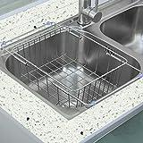 GYP Cesti dispersore di cucina in acciaio inox di drenaggio regolabile scarico Rack Storage Rack lavare il carrello (Colore : SilverB)