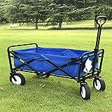 Carros de mano, Trolley mano carro plegable de cuatro ruedas pequeño carro portátil supermercado compras carrito carro al aire libre Camping pesca carrito,A