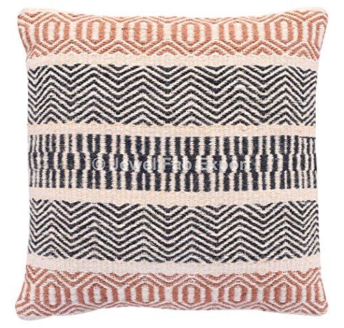Türkischen Kelim Kissen (Jewel Fab Art Jute Kissenbezug Handarbeit Dekoratives Kissen Sham Mehrfarbig Muster Design Sofa Rückseite Kissenbezug, Quadratisch)