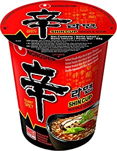 Nong Shim Instantnudeln Shin Ramyun - Koreanische Cup Suppe scharf - schnelle...