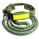 Hundeleine, Hundeleine Gürtel Hyänenseil Hundekette Große Hundehalsband Kragen Kragen Set Zugseil (größe : L)