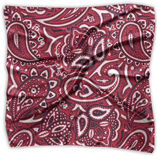 Pizeok Mother Day Gift Women Square Kerchief Satin Chiffon Head Neck Scarves Chiffon Square Neck