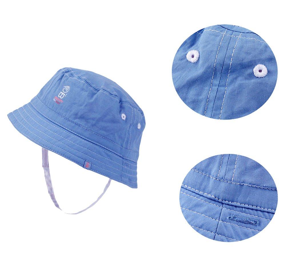 Xiaoyu 2 en 1 sombreros unisex de doble cara del sol del bebé, bebé y muchachos de los muchachos del niño 2