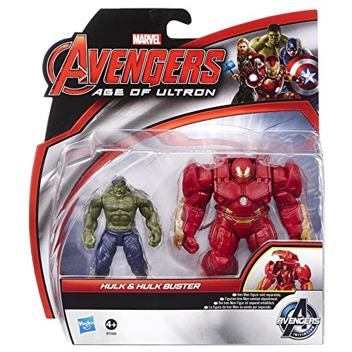 Image of Marvel Avengers Age of Ultron Hulk and Marvel's Hulk Buster Figures