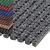 etm® Sicherheitsmatte gegen Glätte | rutschfeste Granulat Beschichtung | deutsches Qualitätsprodukt | 120 cm Breite | viele Farben und Längen (2,5 m Länge, grau)