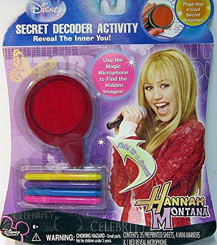 Hannah Montana Secret Decoder Activity by Disney by Disney