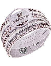 Swarovski Damen-Armband Slake Deluxe Crystal Carrier Edelstahl Stoff Kristall mehrfarbig 36 cm - 52258
