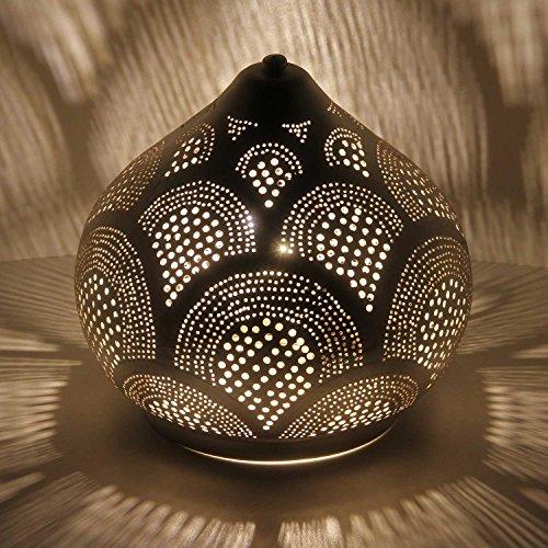 Marwa Marwa D22 Lampe sur pied style oriental Argenté