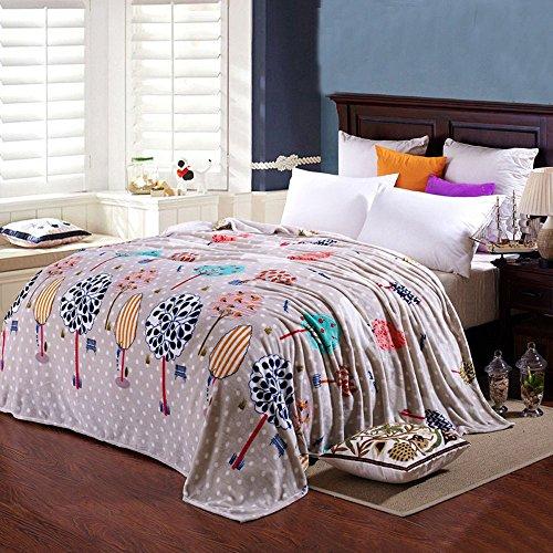 shinemoon All Season Weiche Flanell Bettwäsche Couch Bezug Decke für Erwachsene Kinder Leichte Outdoor Reisen Camping Rest decken für kalte Dots Trees 180x200cm (Kleinkind Bettwäsche Dots)