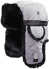 EDTara Adult Outdoor Thicken Hat Neutral Ushanka Waterproof Skiing Cap with Ear Muff Eaves in Winter