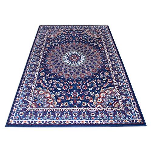Webtappeti.it tappeto stile persiano/orientale tappeto arredo soggiorno e camera royal shiraz 2082-blue 140x210
