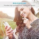 COWIN in-Ear auriculares cancelación de ruido auriculares sonido dinámico de Crystal clear, ergonómico cómodo, micrófono, compatible con iPhone, Android (blanco) (white)