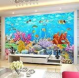 Benutzerdefinierte Fototapete Coral Underwater World 3D Wandmalerei Dekorationen Wohnzimmer Tv Hintergrund Wandverkleidung 3D Tapete