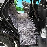 Skyoo - Funda para asiento de mascota, impermeable, lavable a máquina, asiento trasero completo