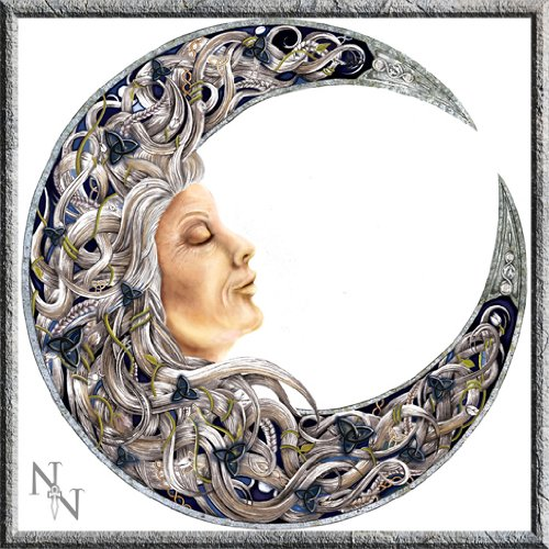 "Beautiful ""Luna Lakota Moon Crone Wall Plaque Art Hanging MDF New & boxed 34 cm"