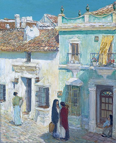 Das Museum Outlet-Plaza de la Merced, Ronda, 1910, gespannte Leinwand Galerie verpackt. 29,7x 41,9cm