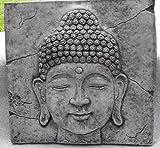 Buda de relieve-cuadro de hängend pátina de piedra moldeada Feng Shui 37cm steinfig.