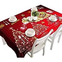 Sansee Frohe Weihnachten Tischdecke Rechteckige Gedruckte Stoff Party Picknick (90*150cm, C)