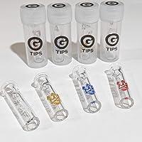 G TIPS X SMO-KING Colourway – Testa rotonda in vetro punte Cicche filtri 4 PACK - 1 OF EACH