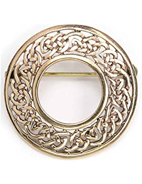 feine Bronze Brosche keltischer Schmuck, Länge: 3cm