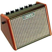 Aroma 15W Amplificador de guitarra eléctrica acústica portátil, Mini amplificador de altavoz de guitarra Bluetooth