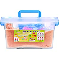 calldrishe Sand Activity Play Set Natural Kinetic Sand Kit for Kids Activity Toys, Craft Art Soft Sand Clay Toys for…