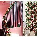 weksi Rosengirlande mit grünen Blättern, Seidenblumen, Dekoration für Haus/Hochzeit/ Garten von Jingxu bei Du und dein Garten