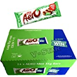 Full Box of Nestle AERO Peppermint Chocolate BAR 24 x 36g (VSTAR)