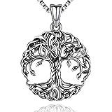 Friggem Collana in Argento per Donna con Confezione Regalo, Ciondolo Albero Della Vita in Argento Sterling 925 - per Mamma e