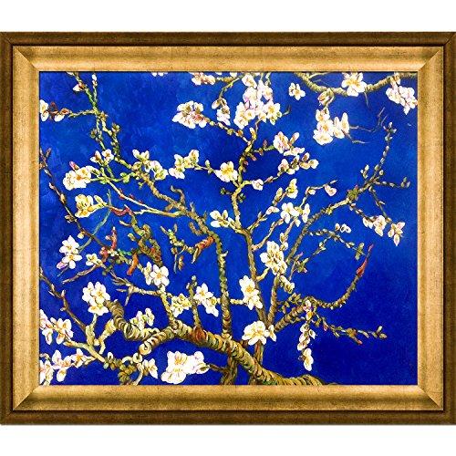 La Ansammlung Mandelbaum in Blüte, Saphir Blau von la Ansammlung mit Athen gold Rahmen handbemalt Öl auf Leinwand, Holz, mehrfarbig (Original-gemälde Blaue)