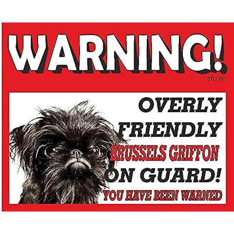 Griffon Bruxelles (colore: nero) per Targa in metallo cane 49