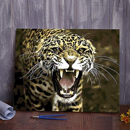 Gosunfly-Painting DIY Digitales Ölgemälde Raum, Landschaft, Blumen Und Comicfiguren Füllen Farbe, Handbemalt, Große Farbdekoration, Provokation, 40 * 50